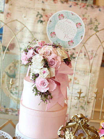 Floral Cascade Hat Box Bouquet