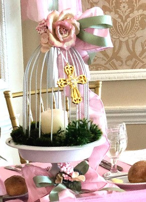 Dalmazio Design Fairy Tale Garden Bird Cage Centerpiece Rental