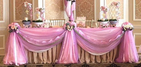 Fairy Tale Specialty Table Swag Pink & Lavender