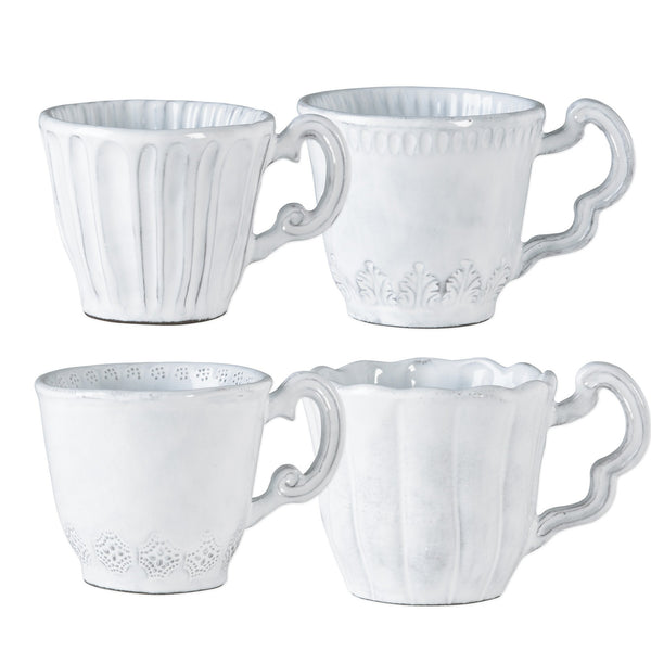 Vietri Incanto Assorted Mugs - Set of 4 Dalmazio Design