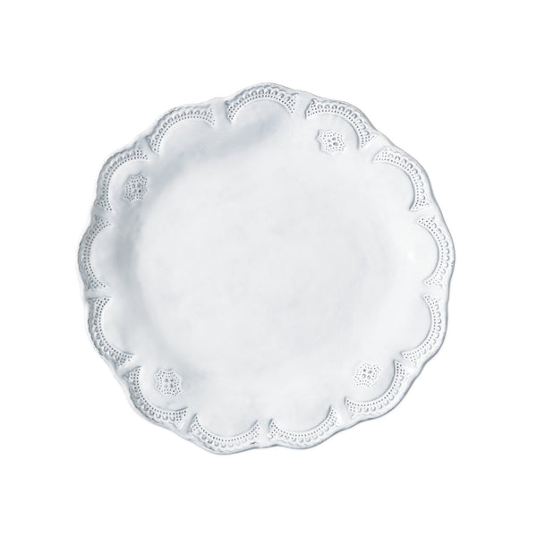 Vietri Incanto Lace European Dinner Plate Dalmazio Design