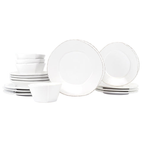 Lastra White Sixteen-Piece Place Setting