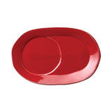 Vietri Lastra Red Oval Tray Dalmazio Design