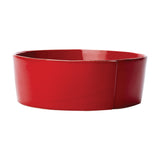 Vietri Lastra Red Large Serving Bowl Dalmazio Design