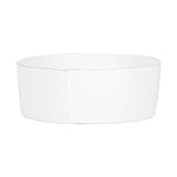 Vietri Lastra White Large Serving Bowl Dalmazio Design
