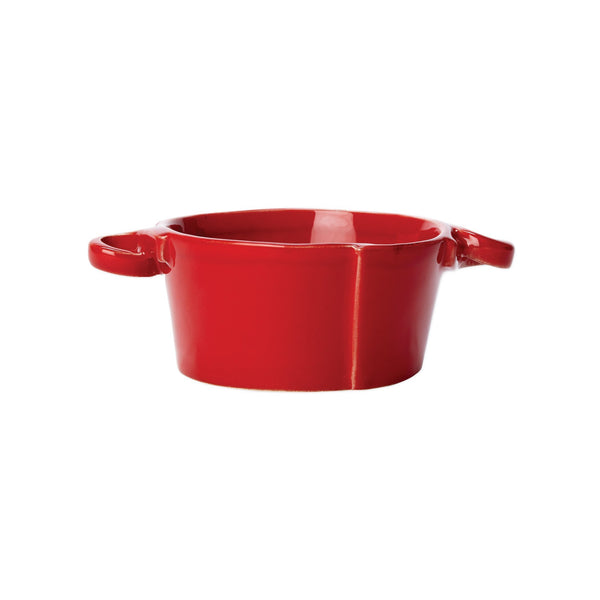 Vietri Lastra Red Small Handled Bowl Dalmazio Design