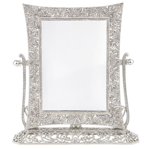 Silver Windsor Magnified Standing Mirror