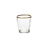 Vietri Optical Gold Double Old Fashioned Dalmazio Design