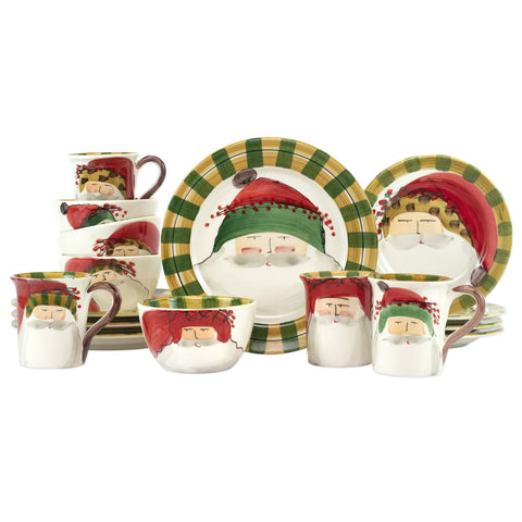 Old St. Nick Assorted Sixteen-Piece Place Setting