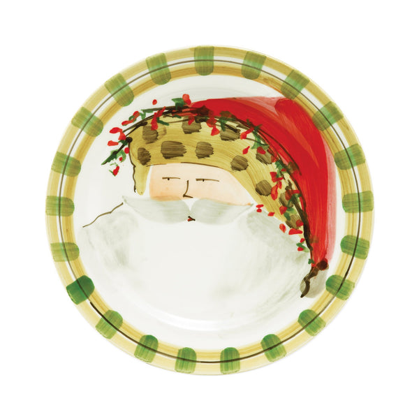 Vietri Old St. Nick Dinner Plate - Animal Hat Dalmazio Design