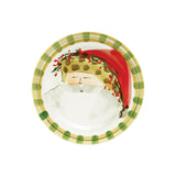 Vietri Old St. Nick Round Salad Plate - Animal Hat Dalmazio Design