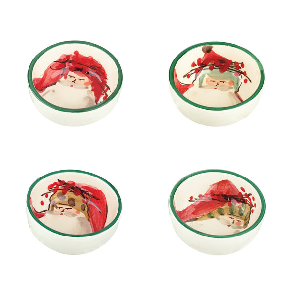 Vietri Old St. Nick Assorted Condiment Bowls - Set of 4 Dalmazio Design