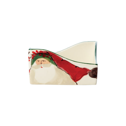 Vietri Old St. Nick Cocktail Napkin Holder Dalmazio Design