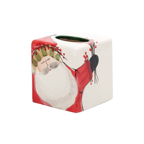 Vietri Old St. Nick Tissue Box Dalmazio Design