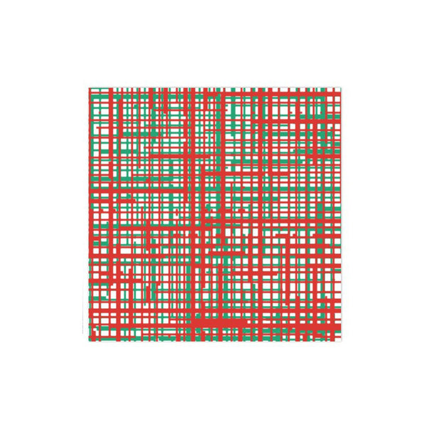 Papersoft Napkins Green & Red Plaid Dinner Napkins (Pack of 50)