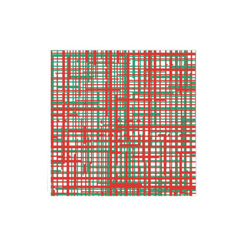Papersoft Napkins Green & Red Plaid Dinner Napkins (Pack of 20)
