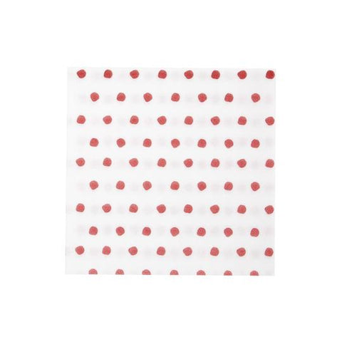 Vietri Papersoft Napkins Red Dot Dinner Napkins (Pack of 50) Dalmazio Design