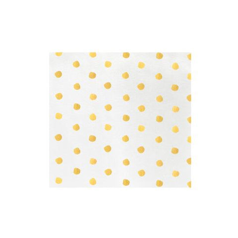 Vietri Papersoft Napkins Yellow Dot Dinner Napkins (Pack of 50) Dalmazio Design