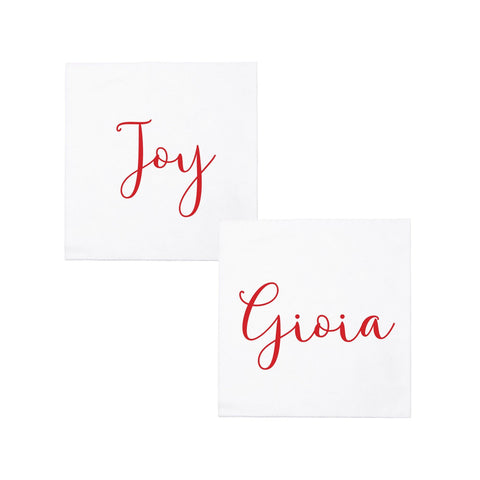 Papersoft Napkins Joy/Gioia Cocktail Napkins (Pack of 20)