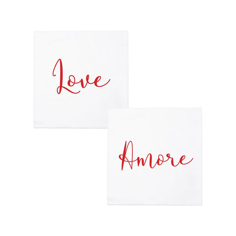 Papersoft Napkins Love/Amore Cocktail Napkins (Pack of 20)