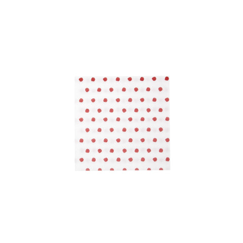 Vietri Papersoft Napkins Red Dot Cocktail Napkins (Pack of 20) Dalmazio Design
