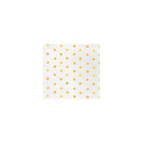 Vietri Papersoft Napkins Yellow Dot Cocktail Napkins (Pack of 20) Dalmazio Design