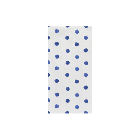 Papersoft Napkins Blue Dot Guest Towels (Pack of 50)
