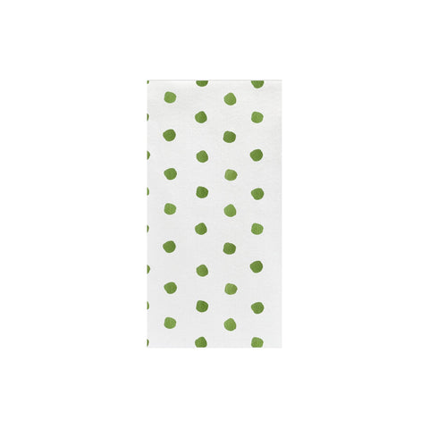 Papersoft Napkins Green Dot Guest Towels (Pack of 20)
