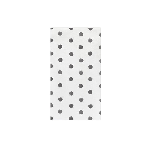 Papersoft Napkins Gray Dot Guest Towels (Pack of 50)