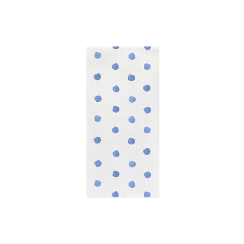 Papersoft Napkins Light Blue Dot Guest Towels (Pack of 50)