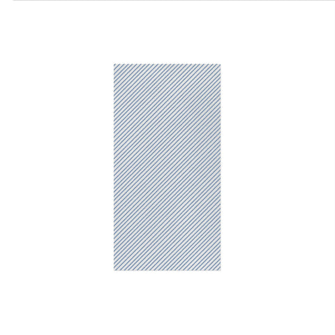 Vietri Papersoft Napkins Seersucker Stripe Blue Guest Towels (Pack of 50) Dalmazio Design