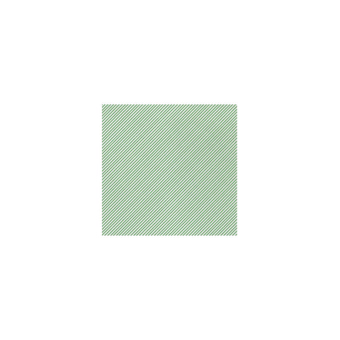 Vietri Papersoft Napkins Seersucker Stripe Green Cocktail Napkins (Pack of 20) Dalmazio Design