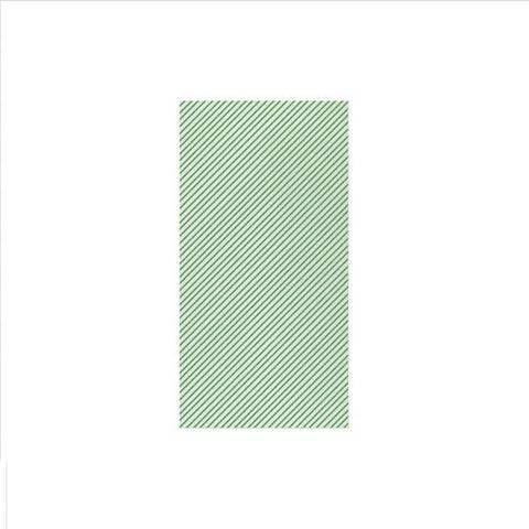 Vietri Papersoft Napkins Seersucker Stripe Green Guest Towels (Pack of 50) Dalmazio Design