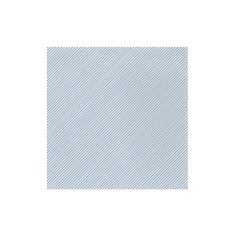 Vietri Papersoft Napkins Seersucker Stripe Light Blue Dinner Napkins (Pack of 50) Dalmazio Design