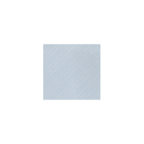 Vietri Papersoft Napkins Seersucker Stripe Light Blue Cocktail Napkins (Pack of 20) Dalmazio Design