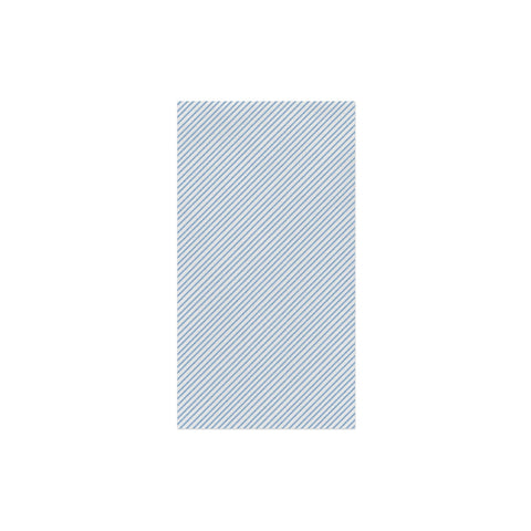 Vietri Papersoft Napkins Seersucker Stripe Light Blue Guest Towels (Pack of 50) Dalmazio Design