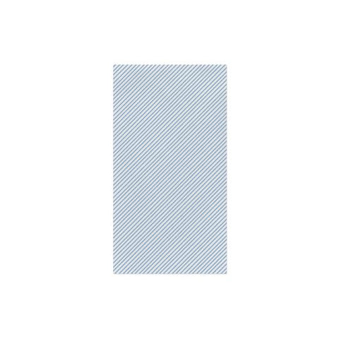 Vietri Papersoft Napkins Seersucker Stripe Light Blue Guest Towels (Pack of 20) Dalmazio Design