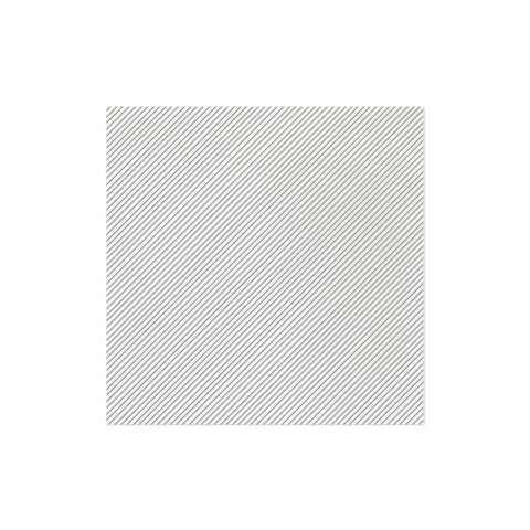 Vietri Papersoft Napkins Seersucker Stripe Light Gray Dinner Napkins (Pack of 50) Dalmazio Design