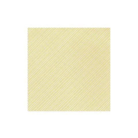 Vietri Papersoft Napkins Seersucker Stripe Yellow Dinner Napkins (Pack of 50) Dalmazio Design
