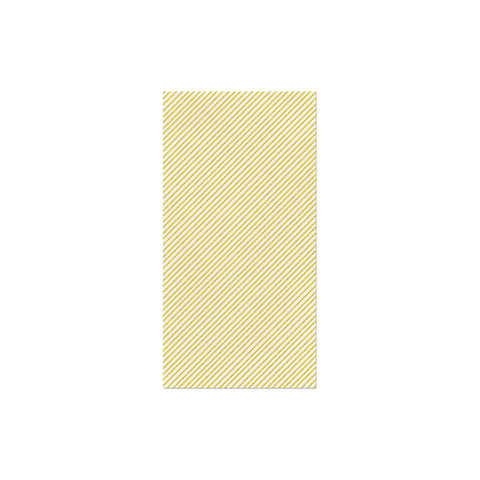 Vietri Papersoft Napkins Seersucker Stripe Yellow Guest Towels (Pack of 20) Dalmazio Design