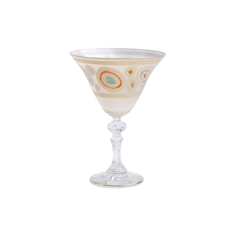 Vietri Regalia Cream Martini Glass Dalmazio Design