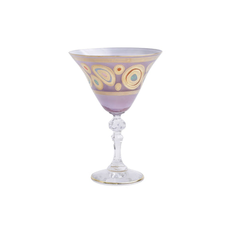 Vietri Regalia Purple Martini Glass Dalmazio Design