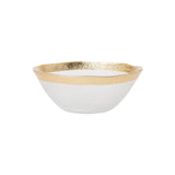 Vietri Rufolo Glass Gold Organic Small Bowl Dalmazio Design