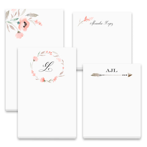Floral Sensation - Note Pad Gift Set - 50 Sheet