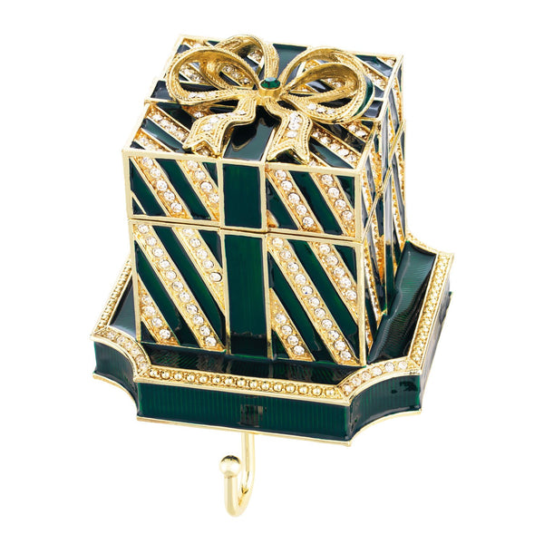 Olivia Riegel Green Gift Box Stocking Holder Dalmazio Design