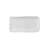 Incanto Stone White Ruffle Rectangular Tray