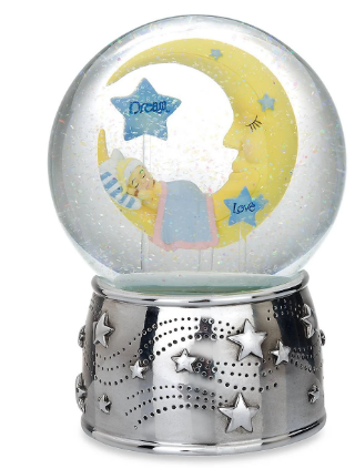Sweet Dreams Silverplate Musical Water Globe