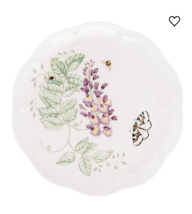Butterfly Meadow Blue Butterfly Accent Plate