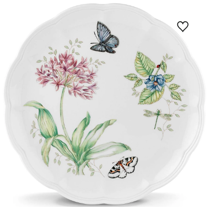 Butterfly Meadow Blue Butterfly Dinner Plate