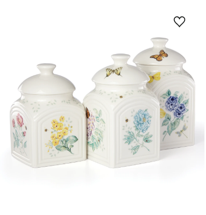 Butterfly Meadow Kitchen 3-Piece Canister Set
